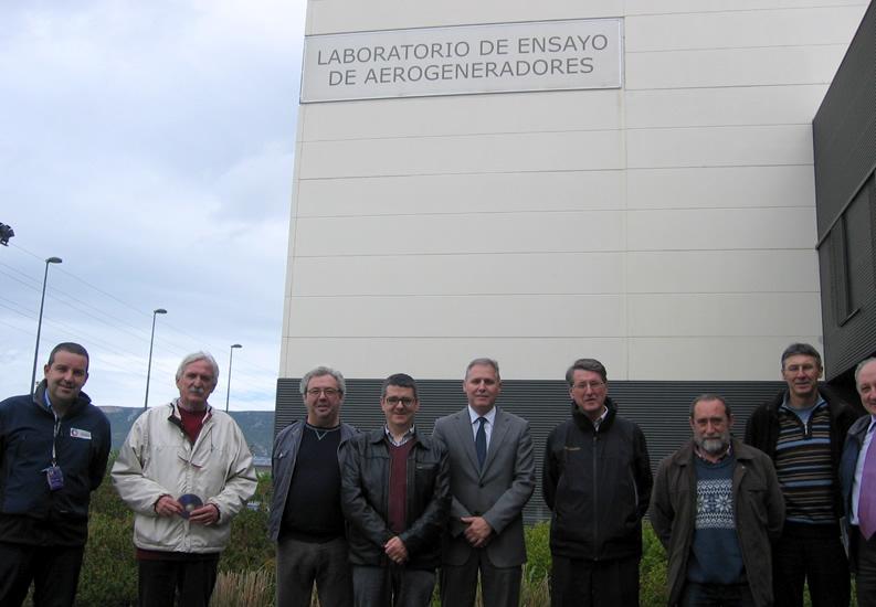 Visita de la Corporación municipal de Sangüesa al LEA-CENER