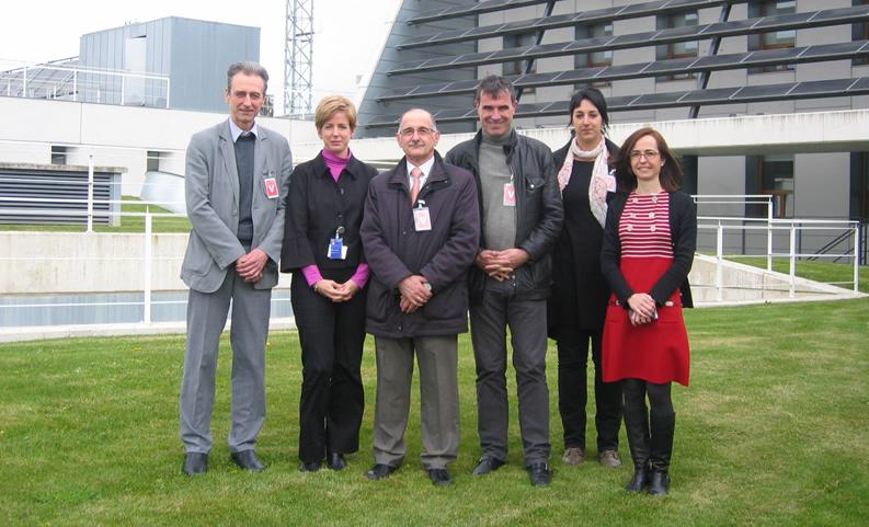 Visita de representantes del Consejo General de Pirineos Atlánticos, acompañados por Pedro García.