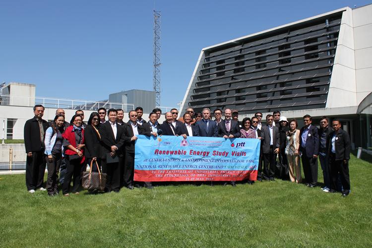 Visita de representantes de empresas tailandesas.