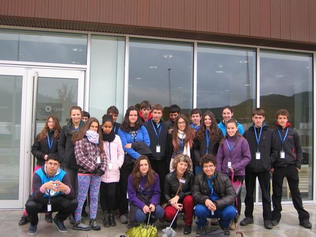 Alumnos del Instituto de Educación Secundaria de Aoiz