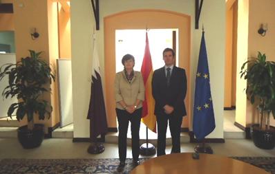 CENER recibido por la embajadora de España en Qatar
