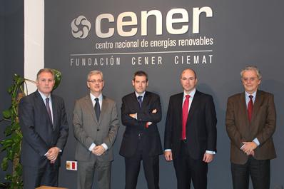Foto de izda a dcha.: José Javier Armendáriz, Fabrizio Hernández, Jorge San Miguel, Luis Padial y Fernando Sánchez