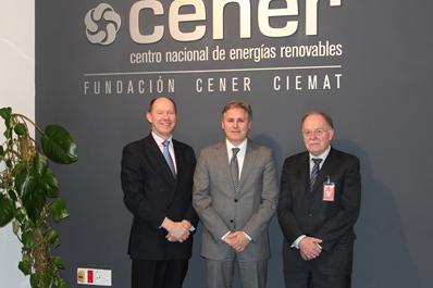Visita de la Embajada Británica a CENER