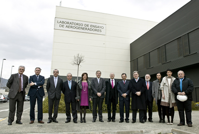 Visita de los presidentes de los parlamentos autonómicos a CENER