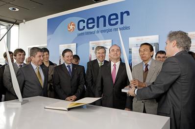 El Ministro de Industria visita CENER acompañado del Ministro de Energía de Brasil