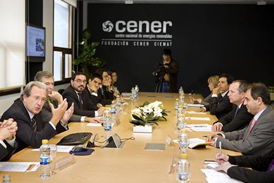 El Ministro de Energía Chileno visita CENER