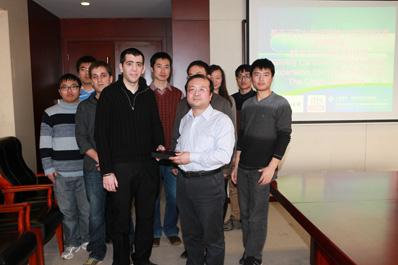 En la imagen la delegación china y los técnicos de CENER que les impartieron el curso de formación el pasado noviembre