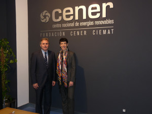Visit to CENER by the Government Delegate in Navarra.