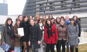 "Visit by students from the International Secretarial Course of the ""Foro Europeo"" Business School of Navarra."